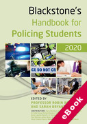 Cover of Blackstone's Handbook for Policing Students 2020 (eBook)