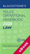 Cover of Blackstone's Police Operational Handbook 2020: Law (eBook)