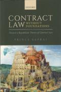 Cover of Contract Law Without Foundations: Toward a Republican Theory of Contract Law