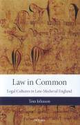 Cover of Law in Common: Legal Cultures in Late-Medieval England
