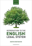Cover of Introduction to the English Legal System 2019-2020
