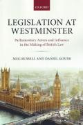 Cover of Legislation at Westminster: Parliamentary Actors and Influence in the Making of British Law