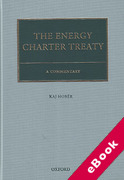 Cover of The Energy Charter Treaty (eBook)