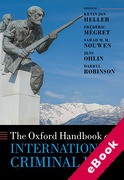 Cover of The Oxford Handbook of International Criminal Law (eBook)