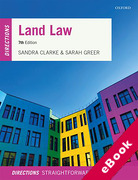 Cover of Land Law Directions (eBook)