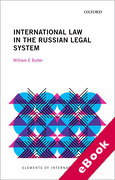 Cover of International Law in the Russian Legal System (eBook)