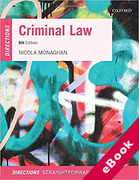 Cover of Criminal Law Directions (eBook)
