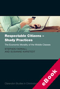 Cover of Respectable Citizens - Shady Practices: The Economic Morality of the Middle Classes (eBook)