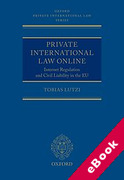 Cover of Private International Law Online: Internet Regulation and Civil Liability in the EU (eBook)