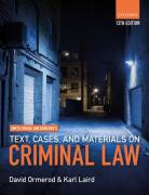 Cover of Smith, Hogan, & Ormerod's Text, Cases, & Materials on Criminal Law