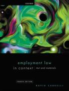 Cover of Employment Law in Context: Text and Materials
