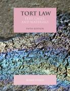 Cover of Tort Law: Text, Cases and Materials