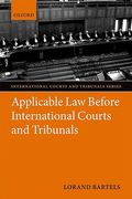 Cover of Applicable Law Before International Courts and Tribunals