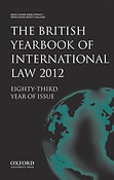 Cover of The British Yearbook of International Law: Print + Online