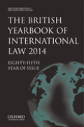 Cover of The British Yearbook of International Law: Print Only