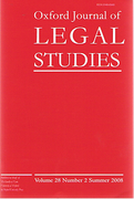 Cover of Oxford Journal of Legal Studies: Print + Online