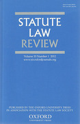 Cover of Statute Law Review: Print + Online
