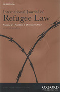 Cover of International Journal of Refugee Law: Print + Online