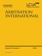 Cover of Arbitration International: Print Only