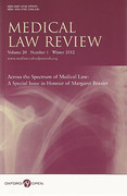 Cover of Medical Law Review: Print + Online