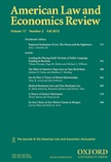 Cover of American Law and Economics Review: Print + Online