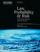 Cover of Law, Probability and Risk: Print + Online