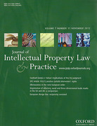 Cover of Journal of Intellectual Property Law and Practice: Print Only
