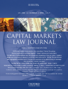 Cover of Capital Markets Law Journal: Print Only