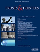 Cover of Trust and Trustees Journal: Online Only