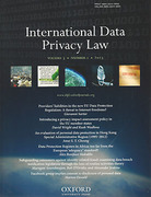 Cover of International Data Privacy Law: Online Only