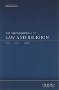 Cover of The Oxford Journal of Law and Religion: Online Only