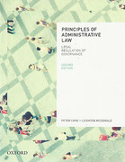 Cover of Principles of Administrative Law: Legal Regulation of Governance