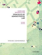 Cover of Cases and Materials for Principles of Administrative Law: Legal Regulation of Governance