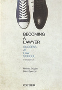 Cover of Becoming a Lawyer: Success at Law School