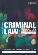 Cover of Australian Criminal Law in the Common Law Jurisdictions: Cases and Materials