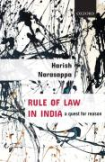 Cover of Rule of Law in India: A Quest for Reason