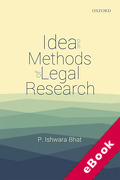 Cover of Idea and Methods of Legal Research (eBook)