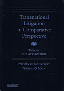 Cover of Transnational Litigation in Comparative Perspective: Theory & Application