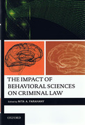 Cover of The Impact of Behavioral Sciences on Criminal Law