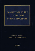 Cover of Commentary on the Italian Code of Civil Procedure