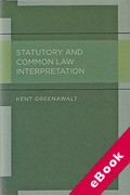Cover of Statutory and Common Law Interpretation (eBook)