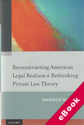 Cover of Reconstructing American Legal Realism & Rethinking Private Law Theory (eBook)