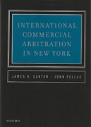 Cover of International Commercial Arbitration in New York
