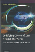 Cover of Codifying Choice of Law Around the World: An International Comparative Analysis