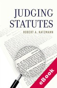 Cover of Judging Statutes (eBook)