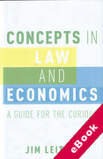 Cover of Concepts in Law and Economics: A Guide for the Curious (eBook)