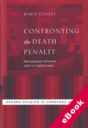 Cover of Confronting the Death Penalty: How Language Influences Jurors in Capital Cases (eBook)