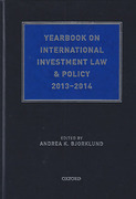 Cover of Yearbook on International Investment Law and Policy 2013-2014