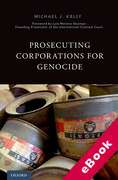 Cover of Prosecuting Corporations for Genocide (eBook)