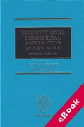 Cover of International Commercial Arbitration in New York (eBook)